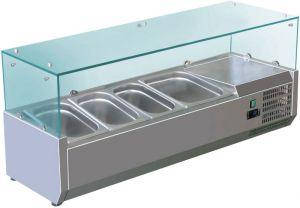 VRX1200-380-FC Vetrina refrigerata inox aisi 201 per bacinelle