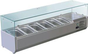 VRX1400-330-FC Vitrine réfrigérée en inox AISI 201 pour lavabos
