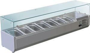 VRX1500-330-FC Vitrine réfrigérée en inox AISI 201 pour lavabos
