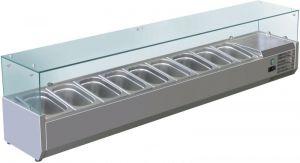 VRX2000-380-FC Vitrine réfrigérée en inox AISI 201 pour lavabos