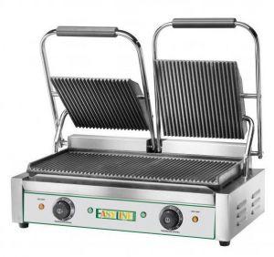 EG03 Plato de cocina de hierro fundido doble, 3600W Top rayado