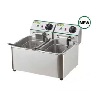 FY8L2 Counter Fryer 8 + 8 Lt Stainless Steel 2.85 + 2.85 KW Easyline