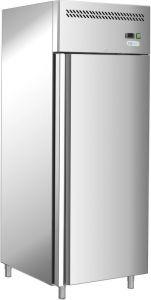G-GN650BT-FC - Réfrigérateur ventilé -18 / -22 °, porte simple, châssis en acier inoxydable AISI201