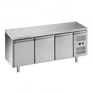 G-SNACK3100TN-FC Comptoir réfrigéré ventilé 3 portes - Temp -2 ° + 8 ° C - Capacité Lt 239