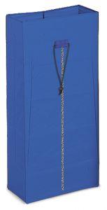 00003628 Sac plastifié de 120 L avec fermeture à glissière - Bleu