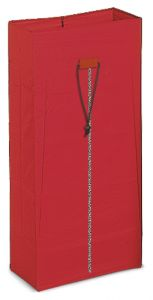 00003629 120 L Plasticized Sack With Zipper - Red